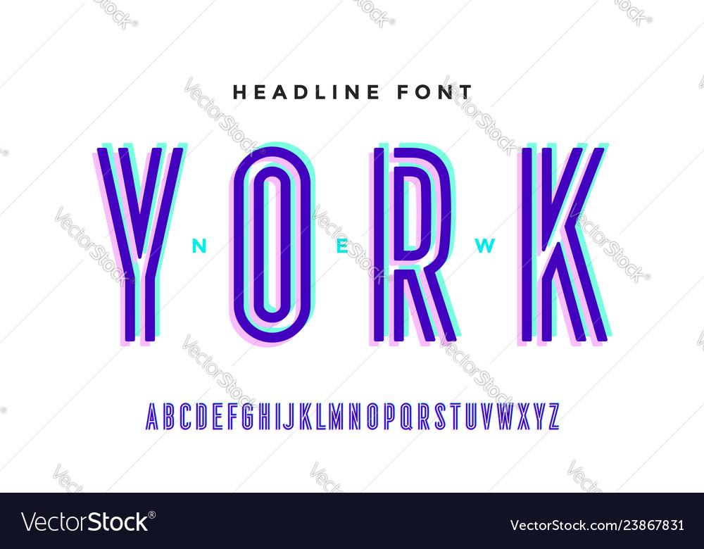 Alphabet and font bold regular and medium