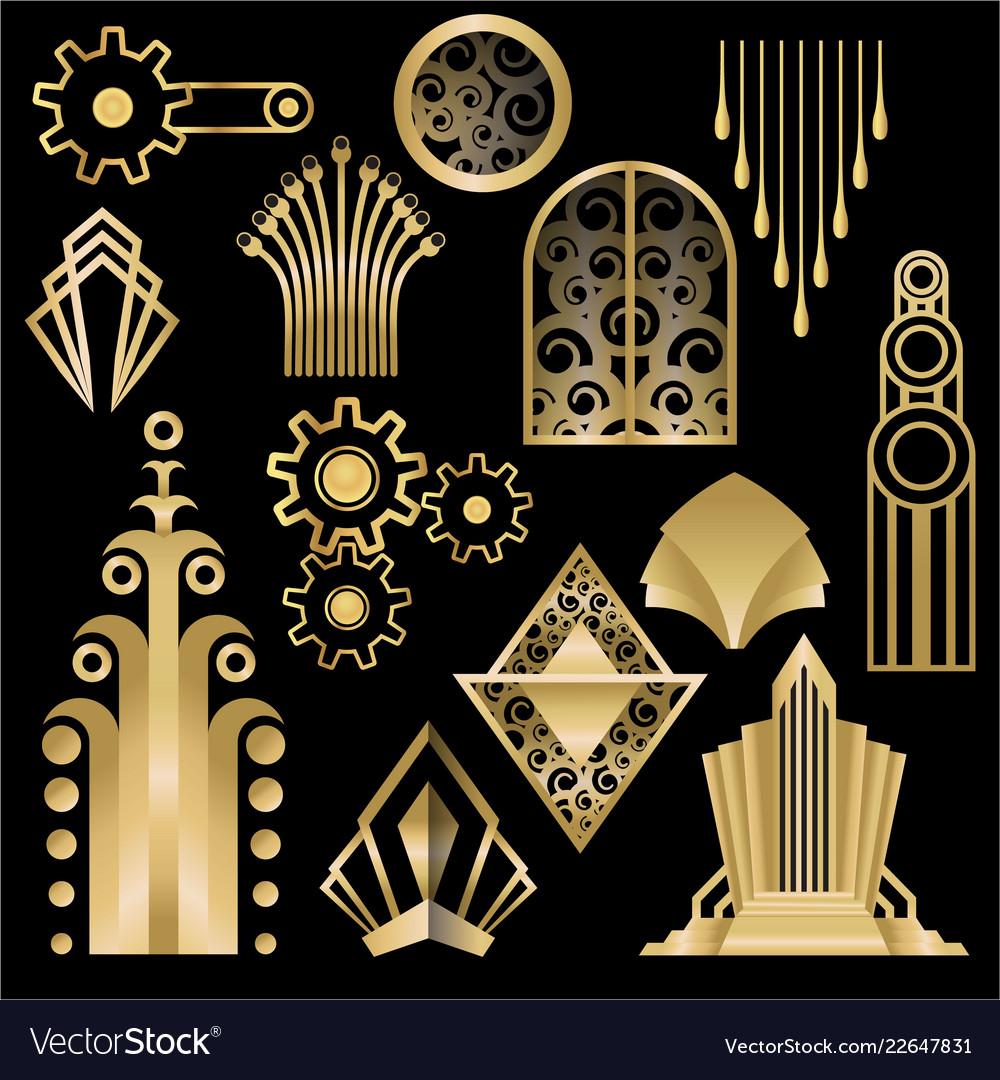 Art decoart nuvo diy golden black elegant set of