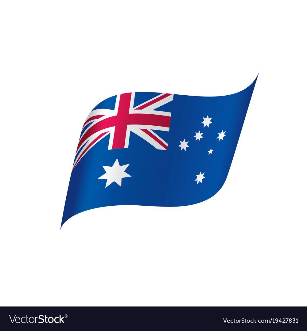 australia flag royalty free vector image vectorstock