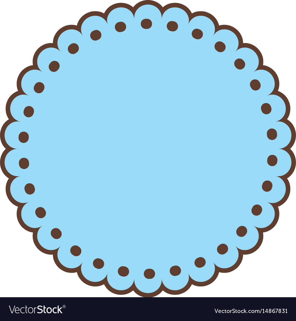 Blue label emblem decoration sticker style