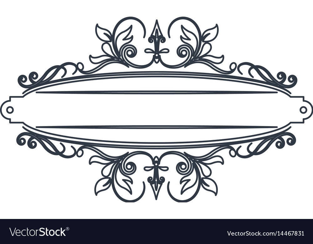 classic signboard swirls decoration template vector image