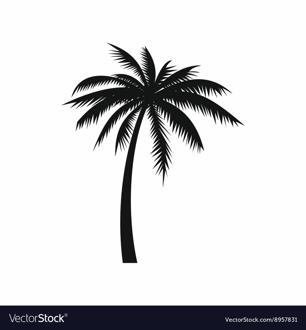 Coconut palm tree icon simple style vector image