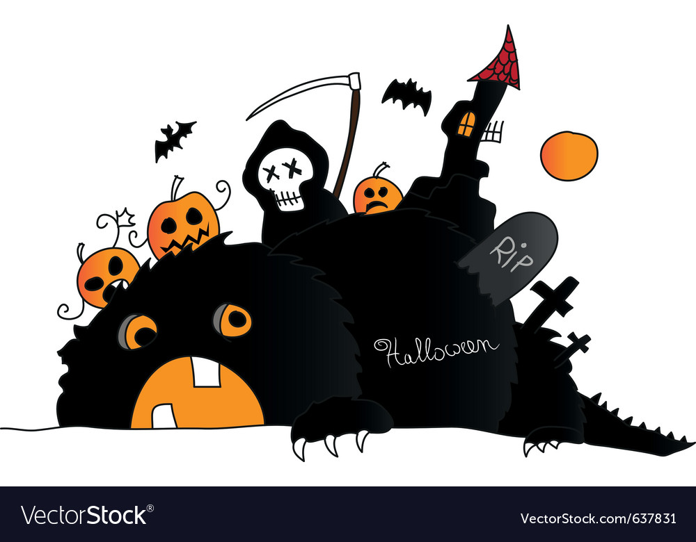 Halloween drawing vector image