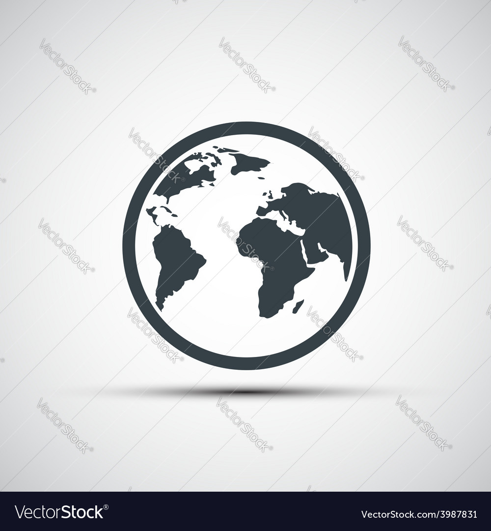 Icons planet earth vector image