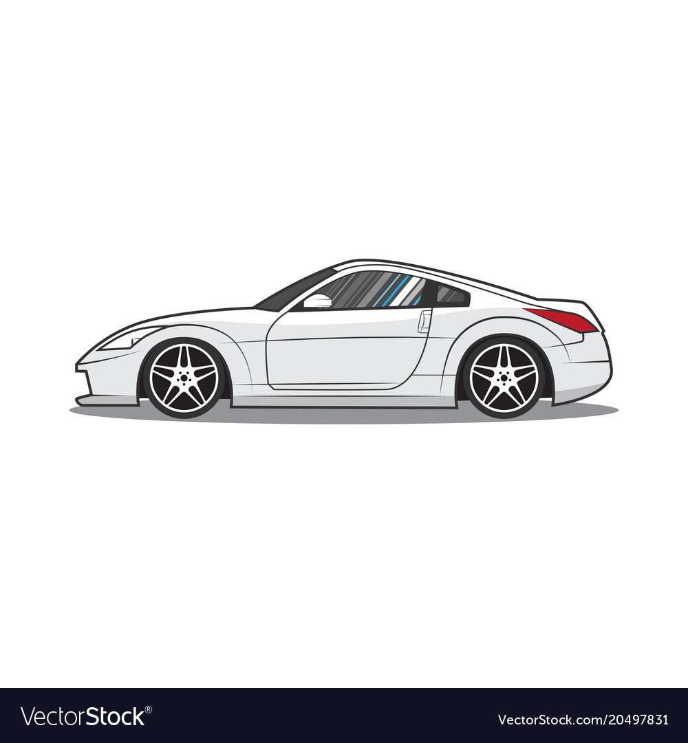 Japan Sport Car Side View Royalty Free Vector Image