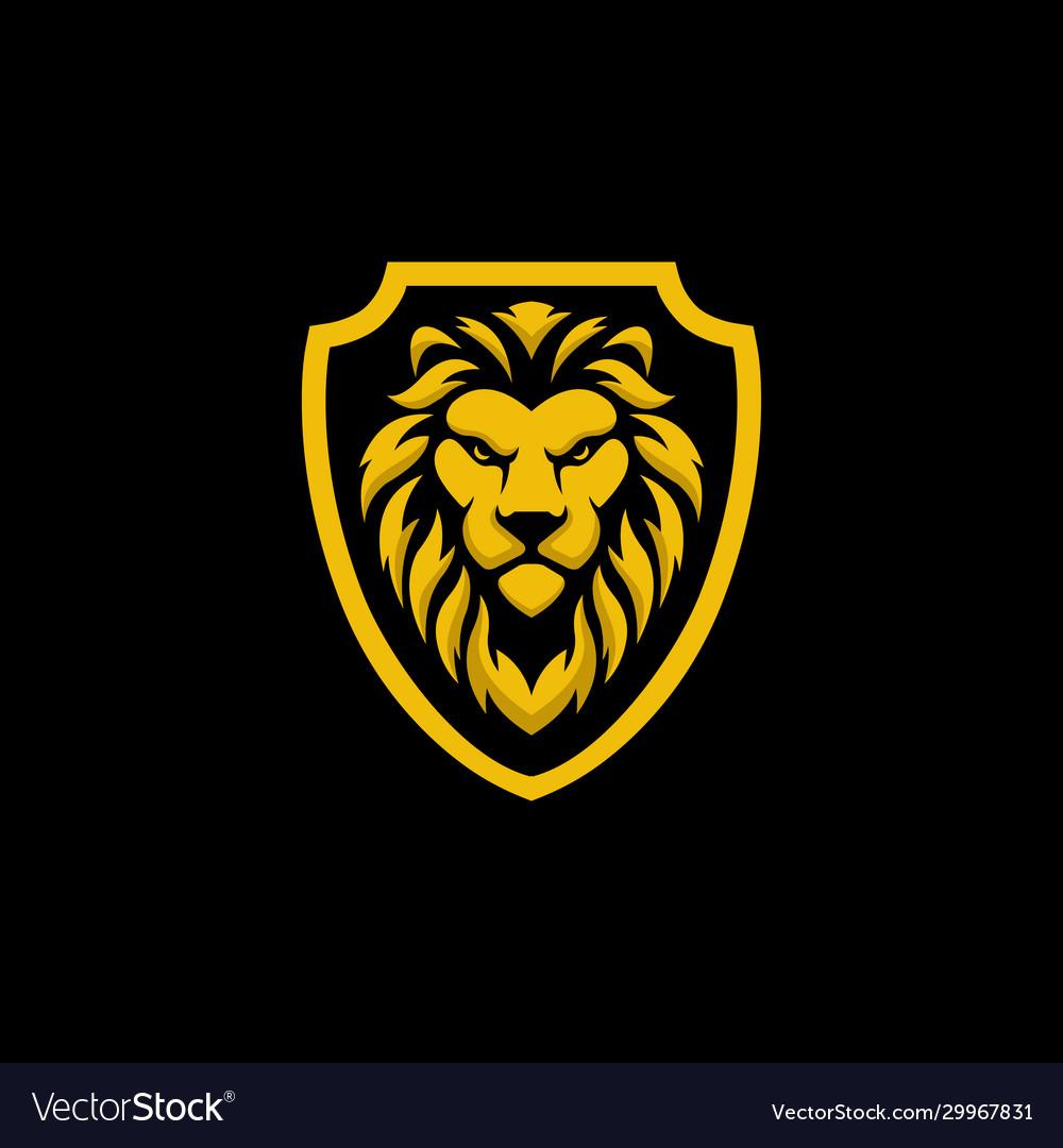 Lion shield logo design