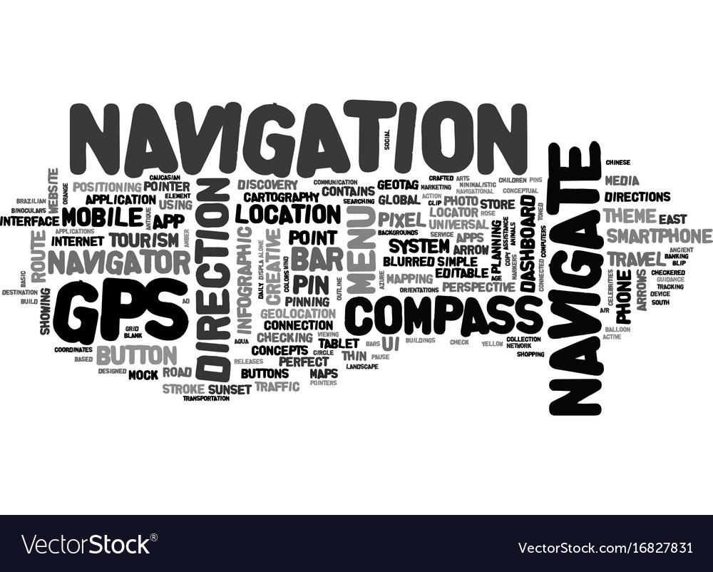 Navigate Word Cloud Concept