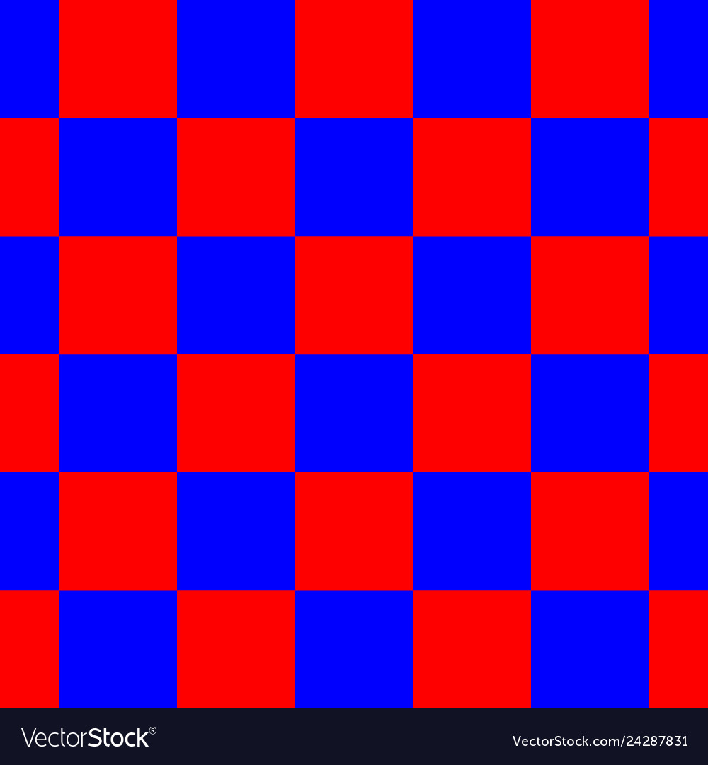 Red blue checkered seamless repeating pattern