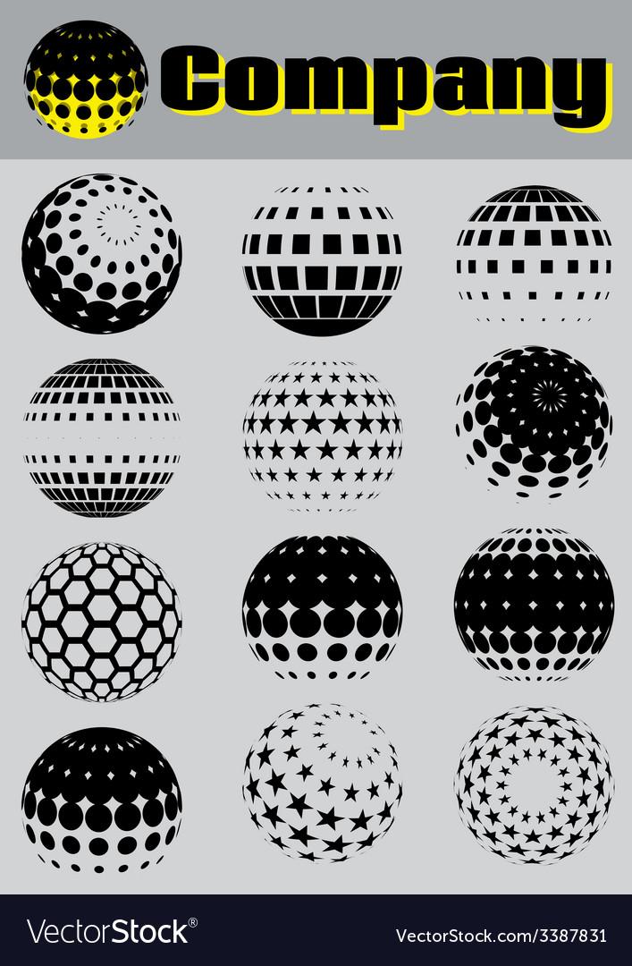 Set of pattern for making emblems