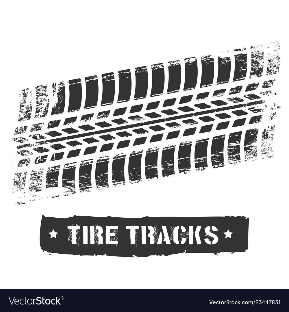 Tire Track Print Royalty Free Vector Image Vectorstock