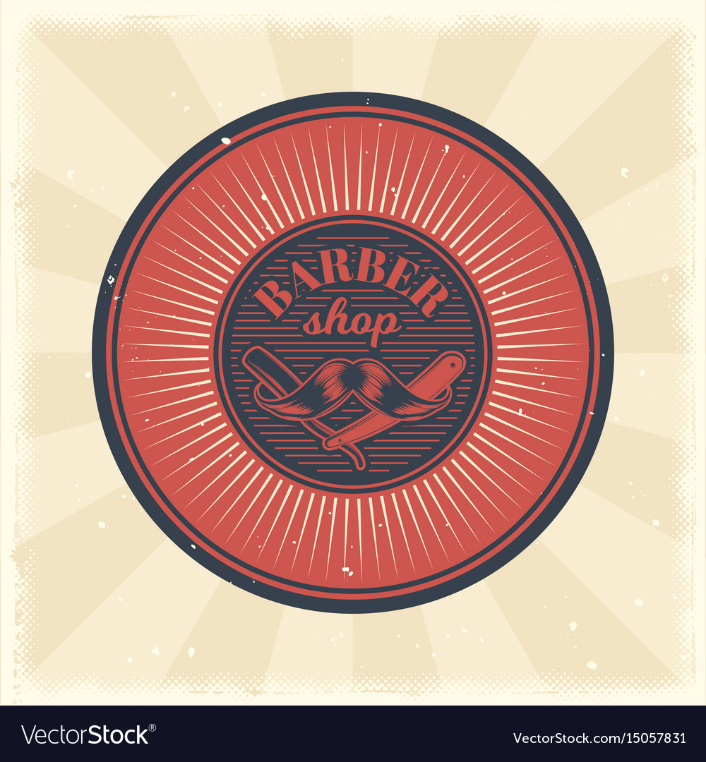 Vintage badge sticker sign with straight vector image