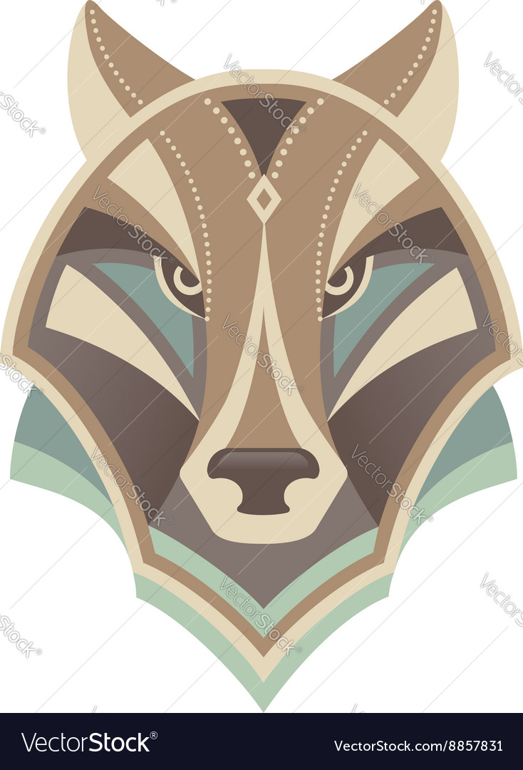 Wolf head abstract design