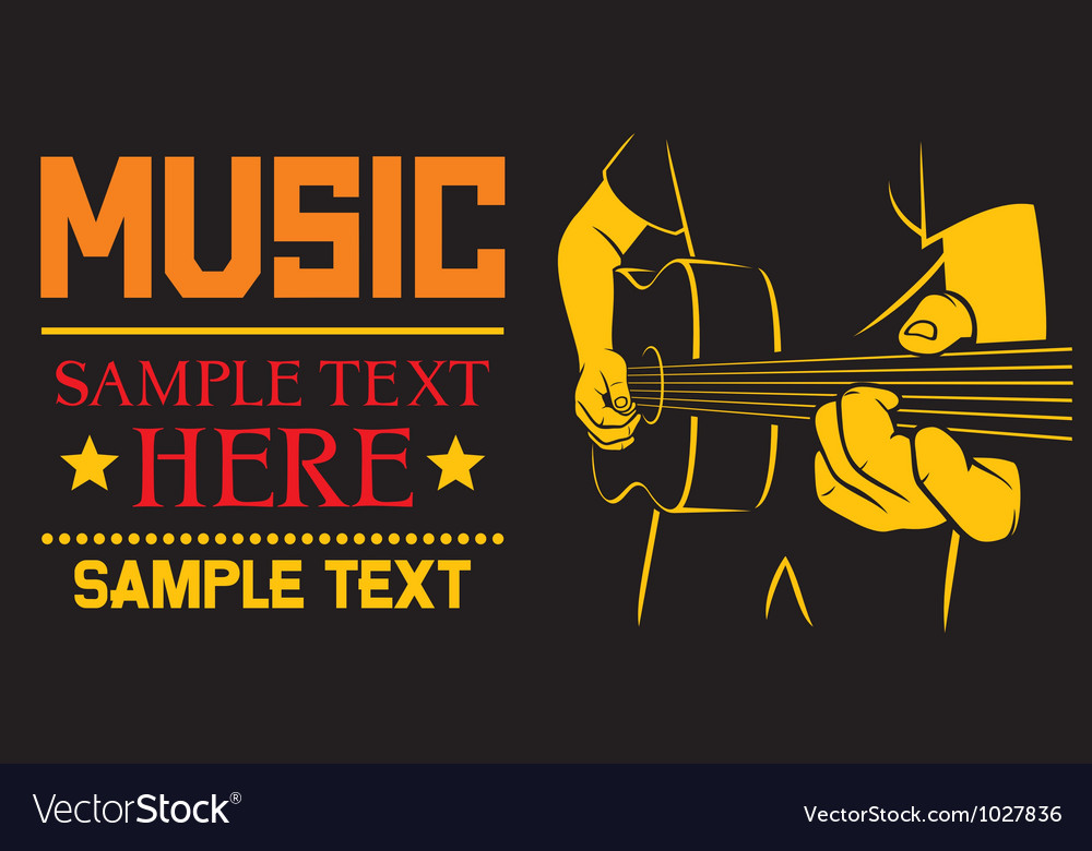 Acoustic guitar playing - background vector image