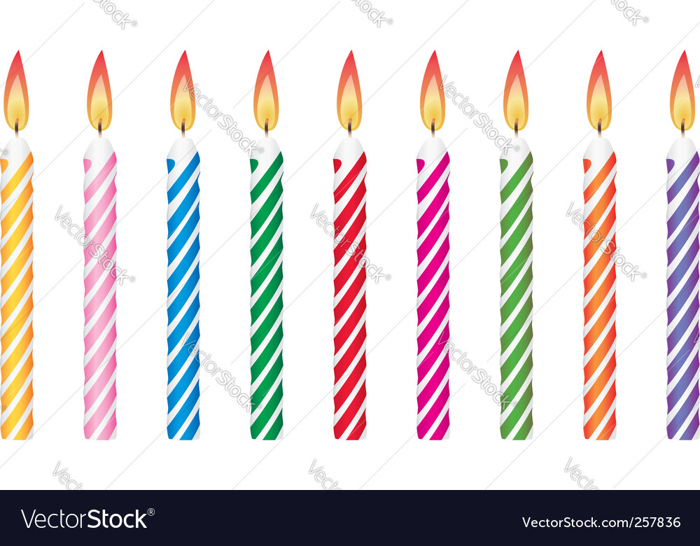 Birthday Candles Royalty Vector Image Vectorstock