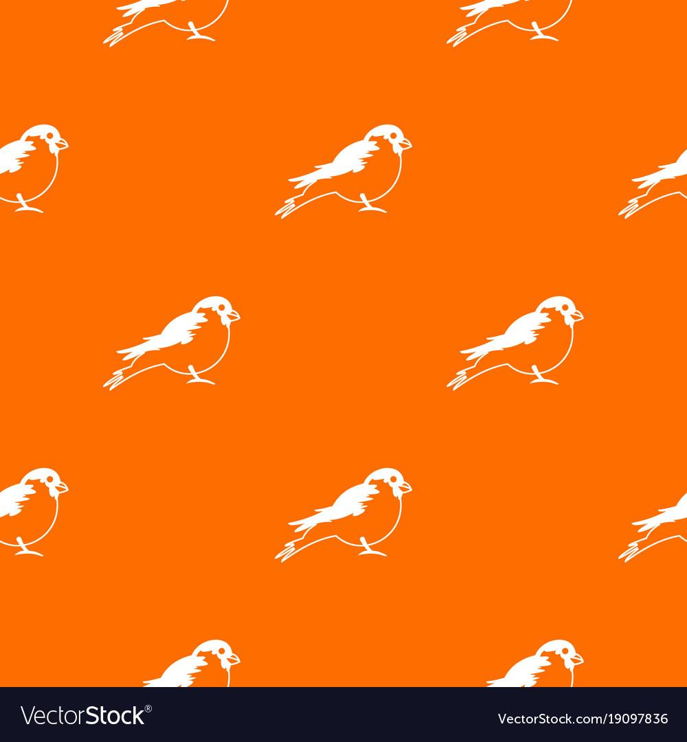 Bullfinch pattern seamless