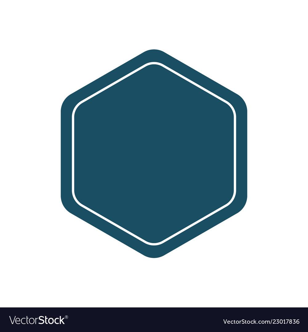 Design template pentagon badge or frame plain