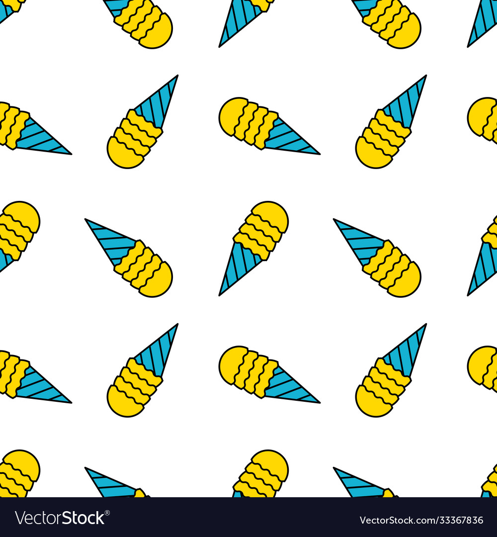 Ice cream seamless pattern doodle texture