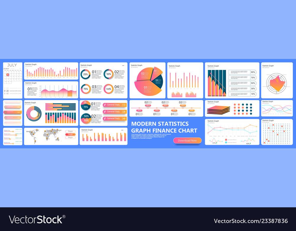 Infographic dashboard finance data analytic