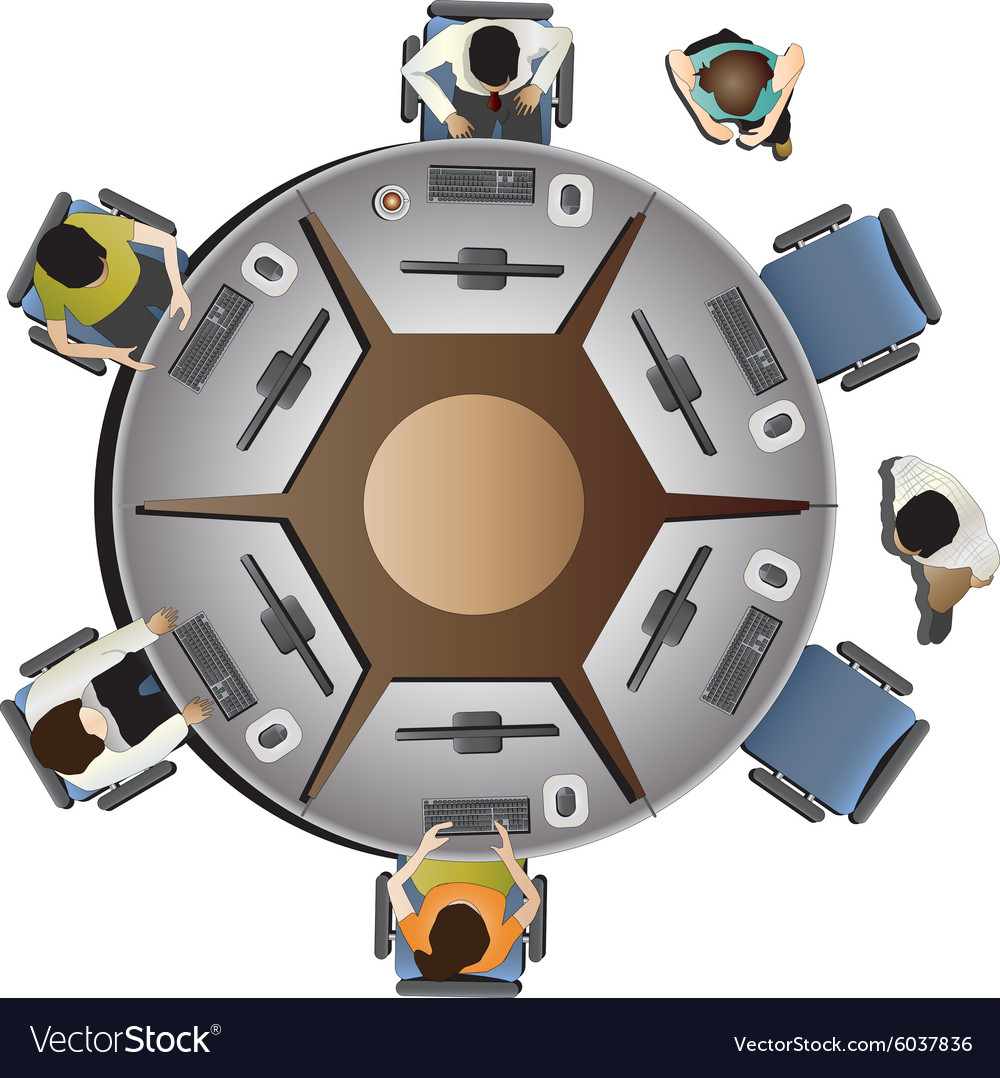 Office Furniture Top View Set 10 Vector Image