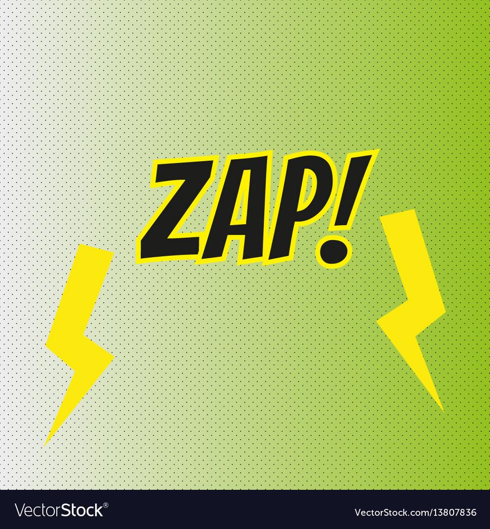Pop art comics zap speech bubble