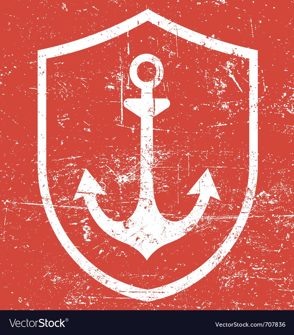 Retro vintage anchor vector image
