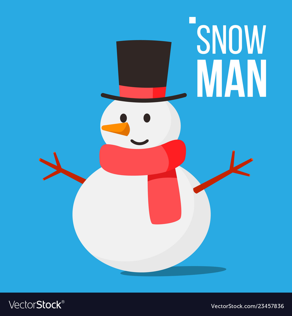Snow man winter fun activity classic