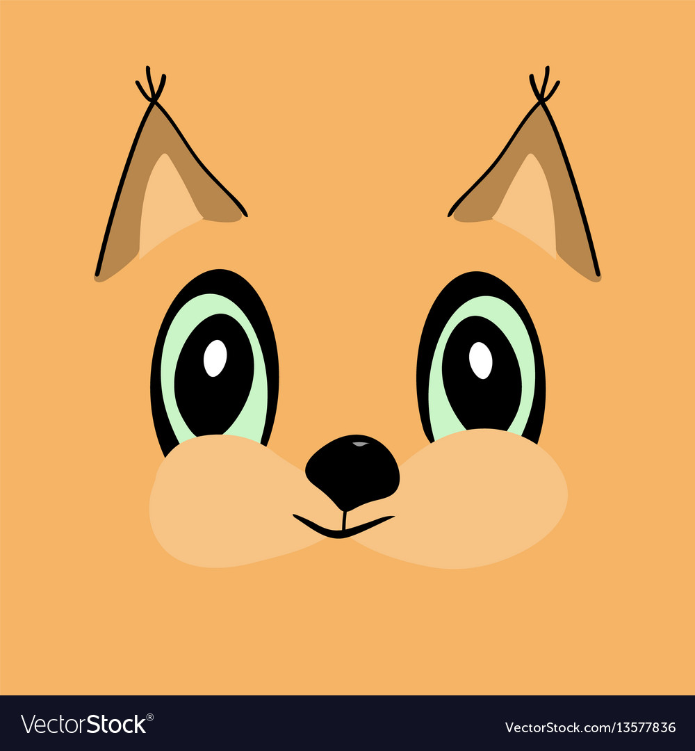 Squirrel head cute cartoon vector image