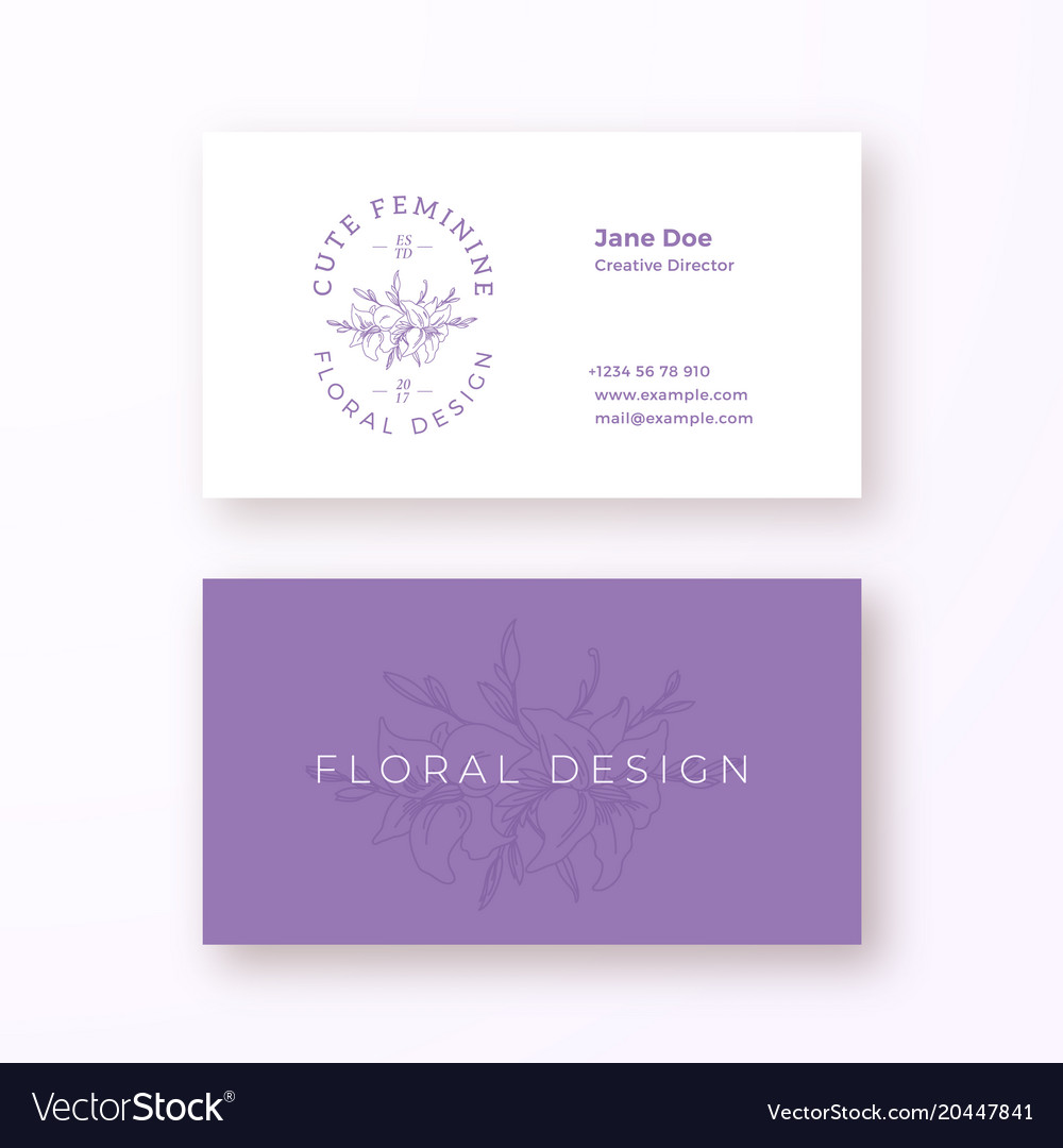 Abstract feminine flower sign or logo and