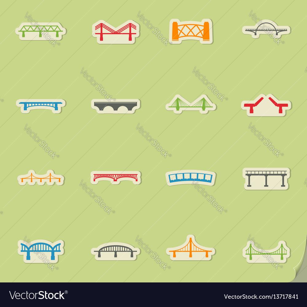 Bridges icons set