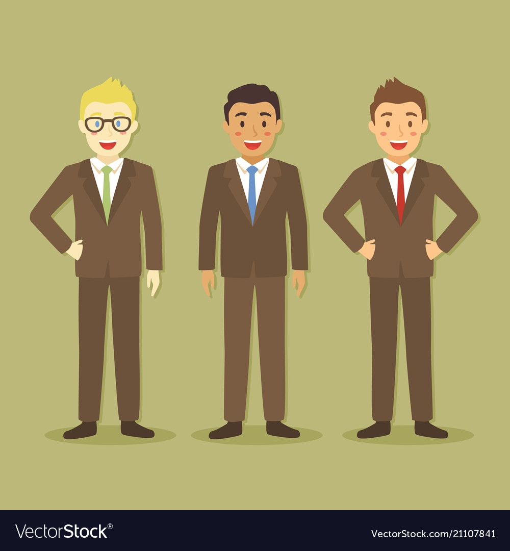 Businessman in three different style