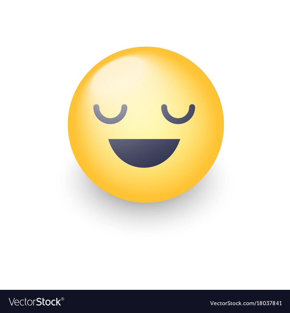 Fun cartoon emoji smiley icon face happy smiling