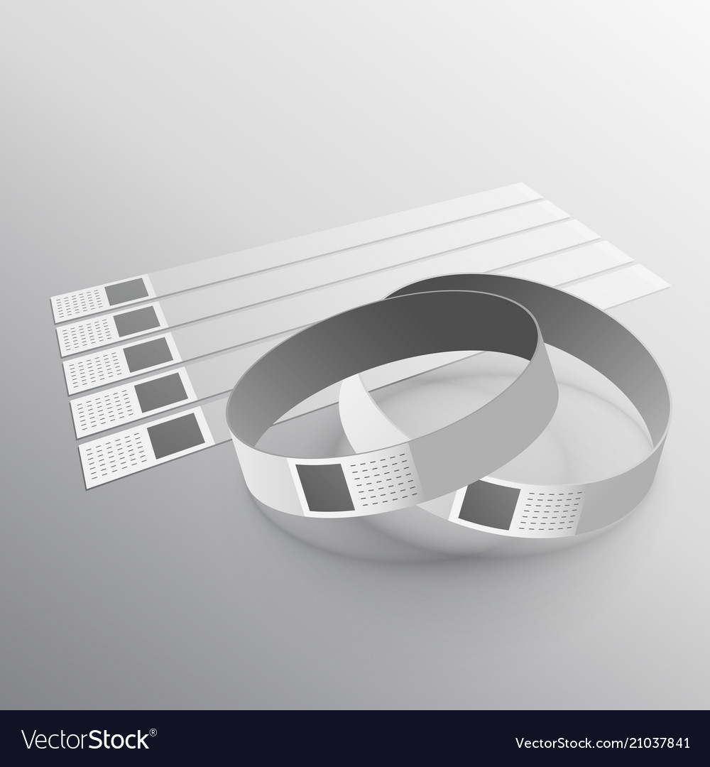 hand wear wristband mockup template royalty free vector