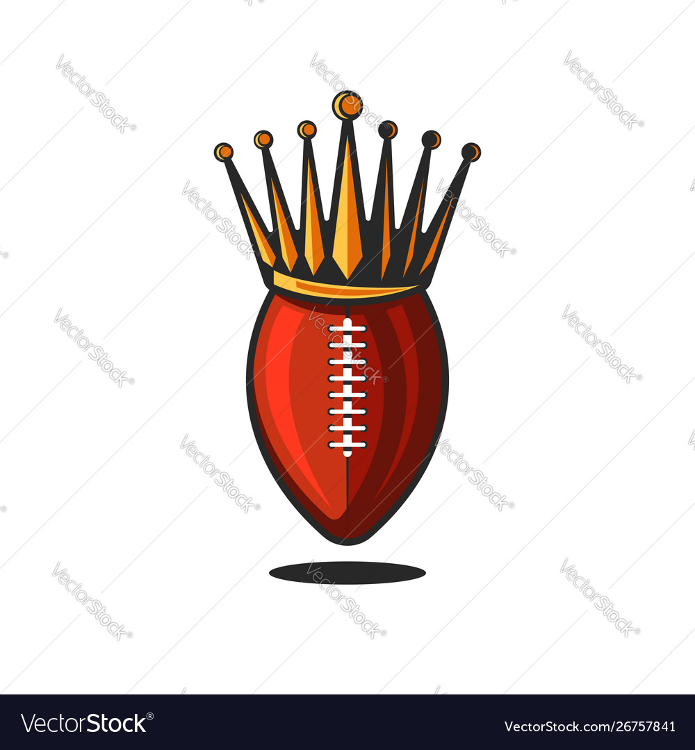 Logo ball for american football or rugin