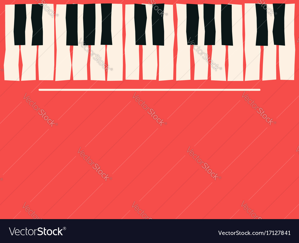 Piano Keys Music Poster Template Jazz And Blues Vector Image