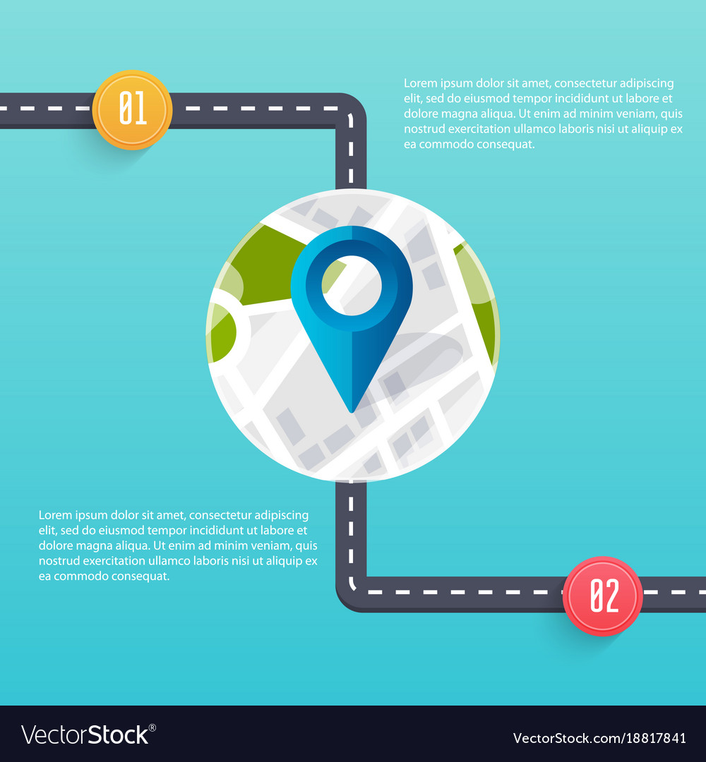 Road infographic template flat design