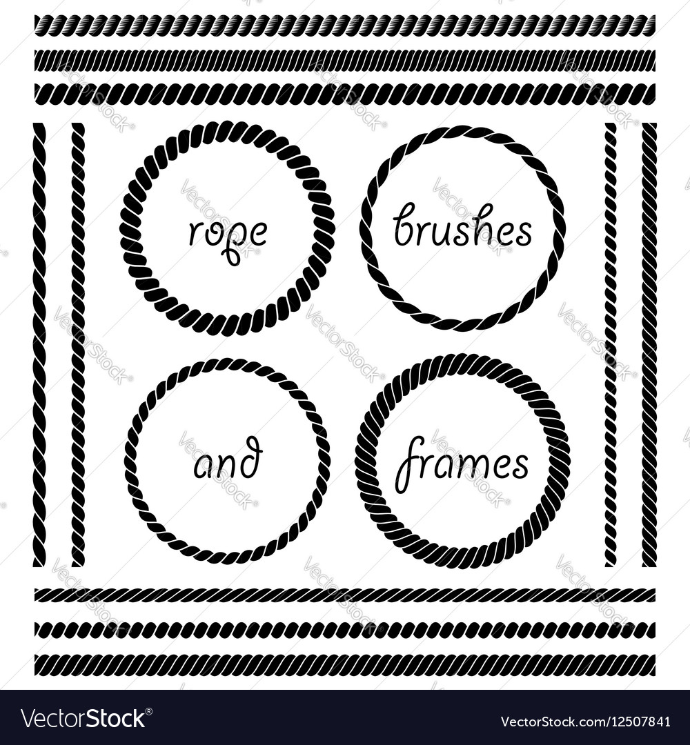 Set of rope brushes and frames