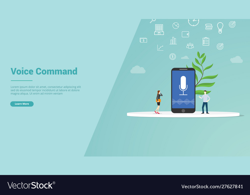 Voice command concept for website template or