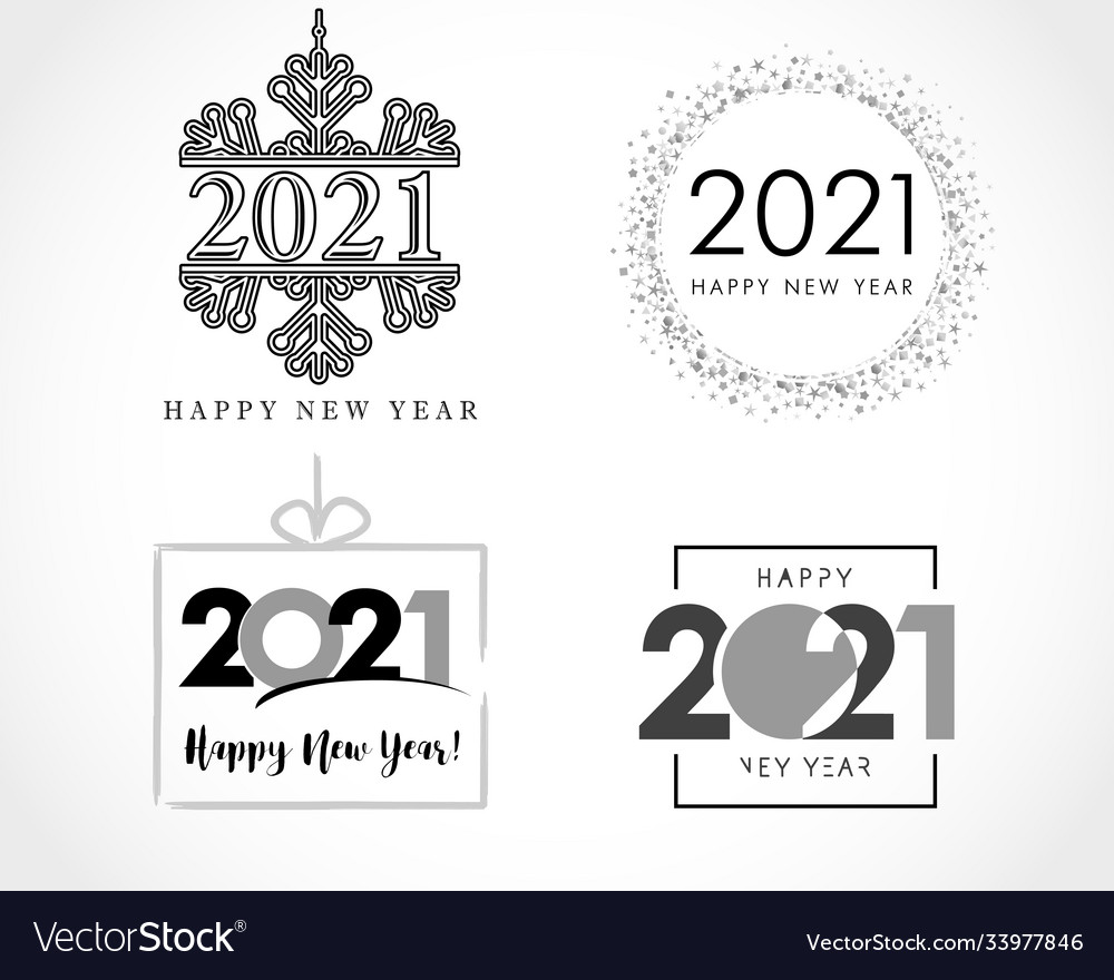 Big collection 2021 happy new year signs