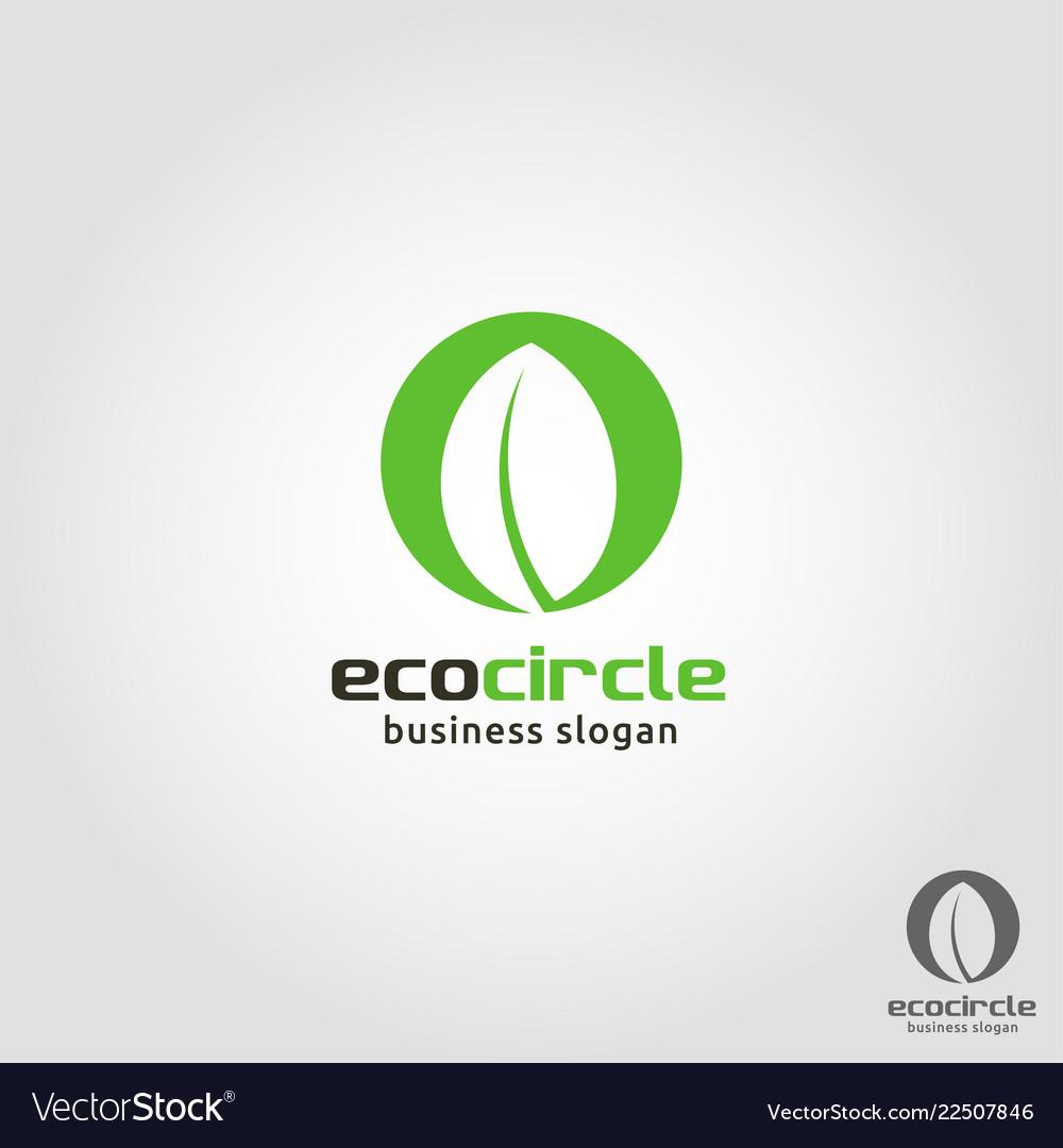 Eco circle - nature leaf logo template