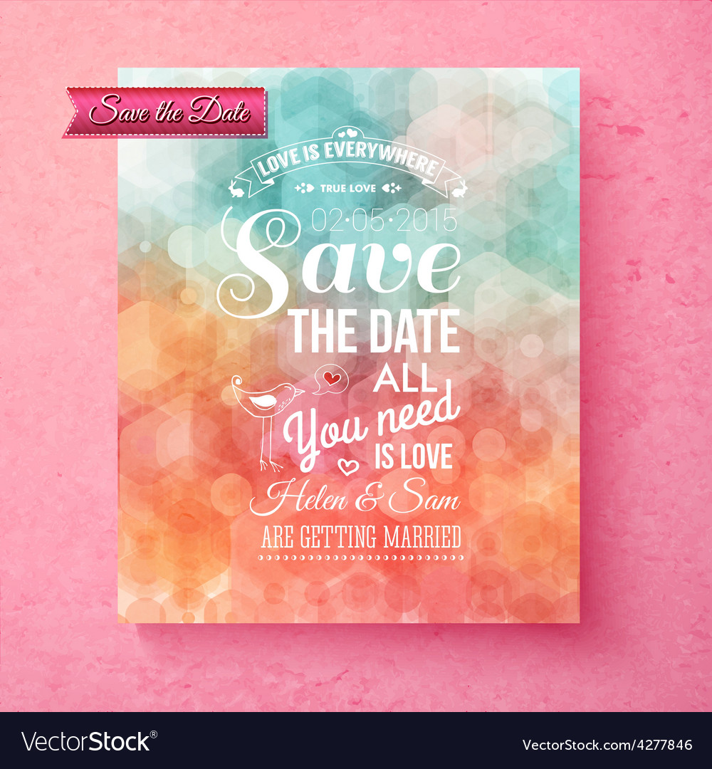 Elegant save the date wedding template