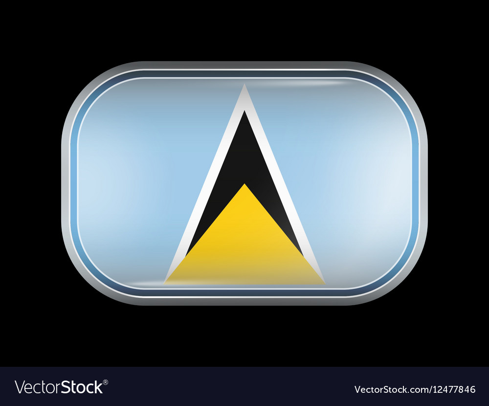 Flag of Saint Lucia Rectangular Rounded Shape