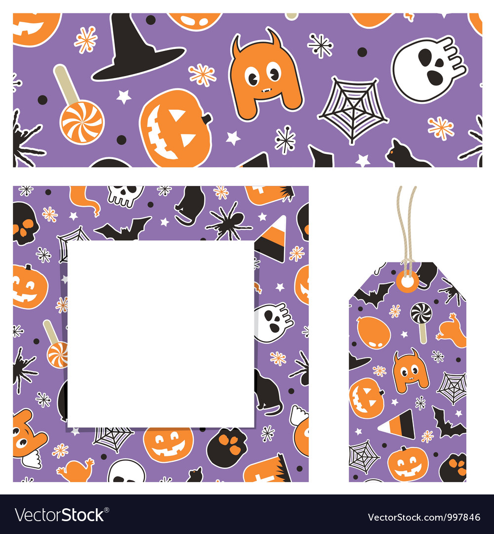 Halloween Stationery Vector Image