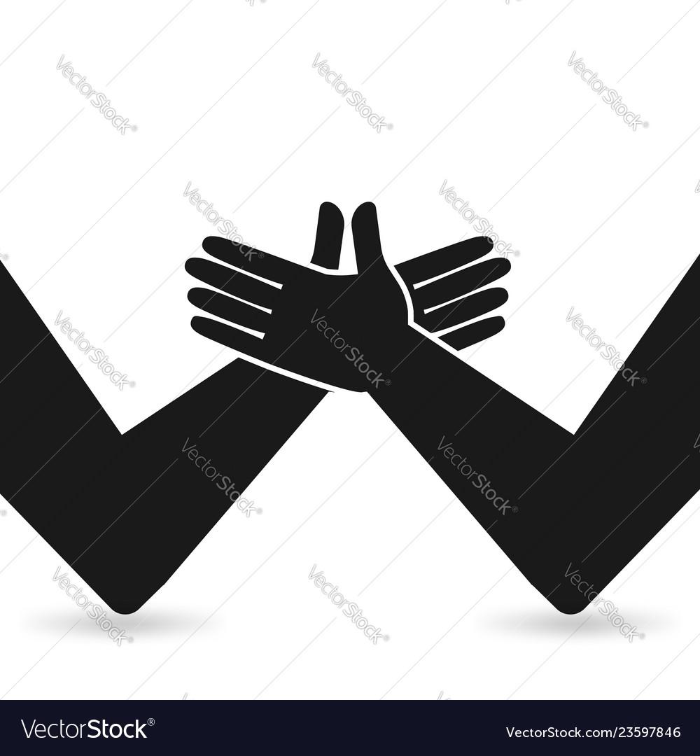 Handshake partnership concept