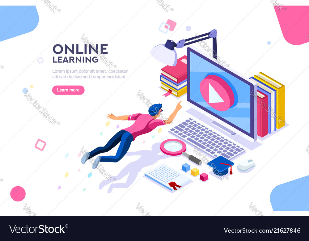 Online tutorial template for website