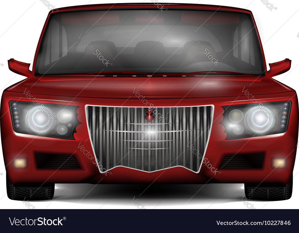 Red concept car No trademark vector image