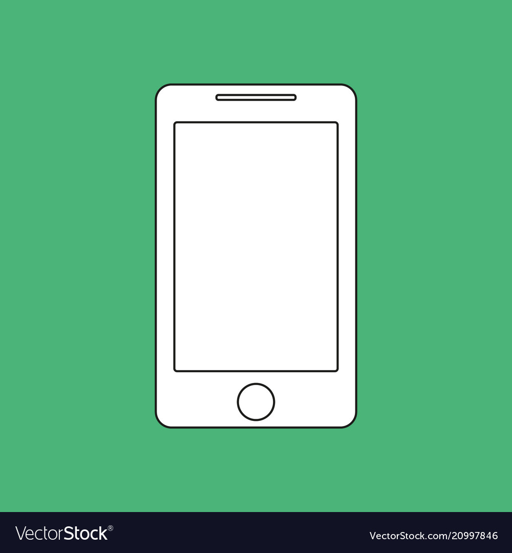 Smartphone outline icon imitation draw