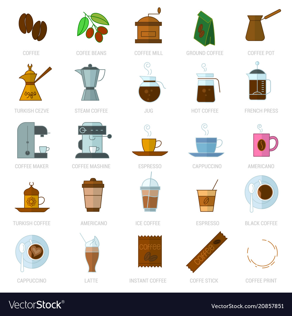 Coffe icon set
