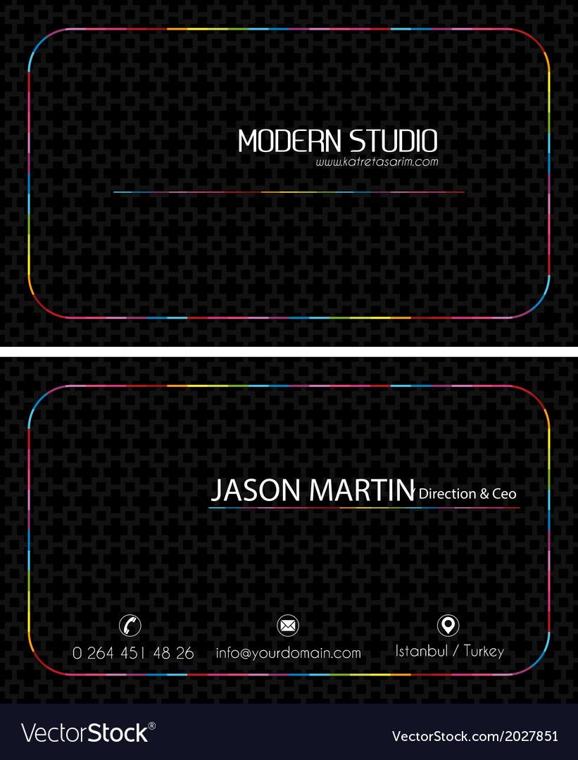 Colorful black creative business card