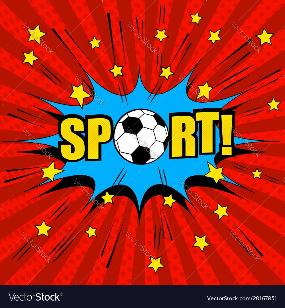Comic bright soccer template