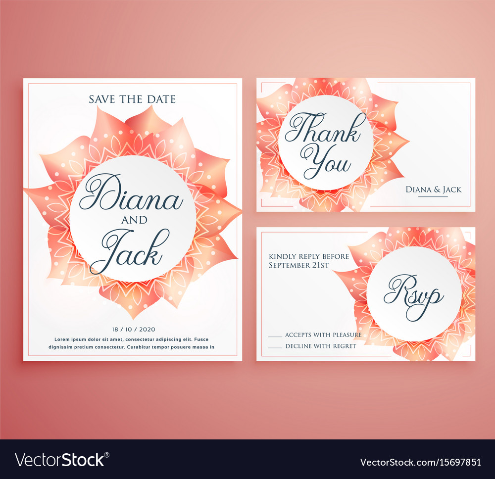Save The Date Wedding Invitation Card Template Vector Image On VectorStock